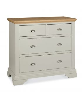 Bentley Designs Hampstead Soft Grey & Pale Oak 2+2 Drawer Chest