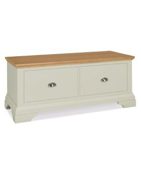 Bentley Designs Hampstead Soft Grey & Pale Oak Blanket Box