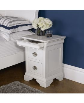 Bentley Designs Chantilly White 2 Drawer Nightstand