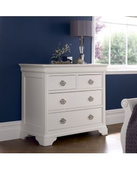 Bentley Designs Chantilly White 2+2 Drawer Chest