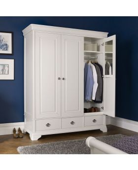Bentley Designs Chantilly White Triple Wardrobe