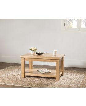 Michael O'Connor Valencia Standard Oak Coffee Table with Shelf
