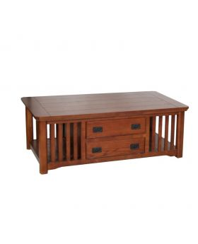 Value Mark Artisan Oak Table with Drawers