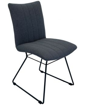Pair of Aura Dining Chairs - Shadow Grey