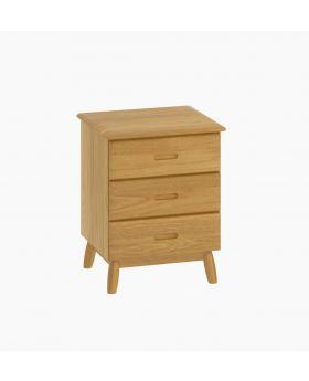 Malmo 3 Drawer Bedside Cabinet