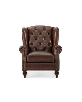 Buckingham Vintage Leather Wing Chair