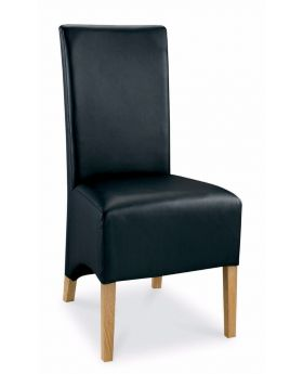 Bentley Designs Wing Back Dining Chair - Black Faux Leather (Pair)