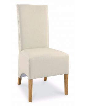 Bentley Designs Wing Back Dining Chair - Ivory Faux Leather (Pair)