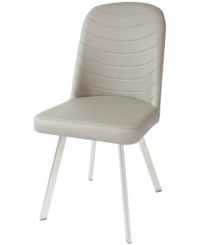 Pair of Classic Flux Dining Chairs in Cappuccino