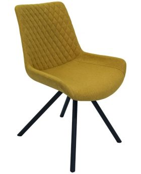 Pair of Classic Sigma Dining Chairs - Saffron