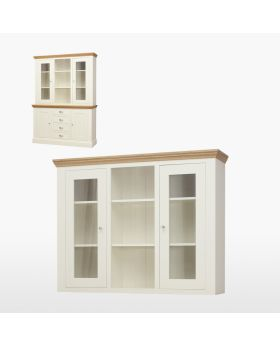 TCH Coelo Dining Medium Glazed Top with Glass Shelves and Lights
