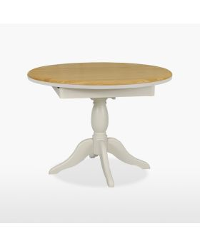 Stag Cromwell Dining Round Extending Single Pedestal Table