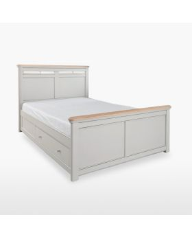 Stag Cromwell Bedroom Double Size Solid Bed with Storage