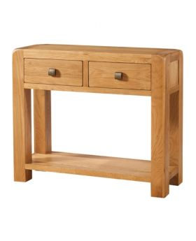 Devonshire Avon Oak Large Console 2 Drawer And Shelf