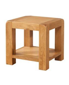 Devonshire Avon Oak Lamp Table With Shelf