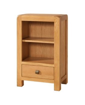 Devonshire Avon Oak Low Bookcase With 1 Drawer
