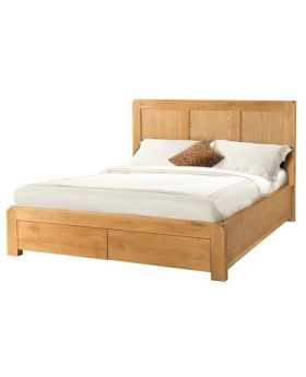 "Devonshire Avon Oak 4'6"" Bed With 2 Storage Drawers"