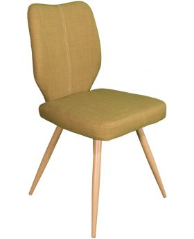 Pair of Classic Enka Dining Chairs  - Olive Green