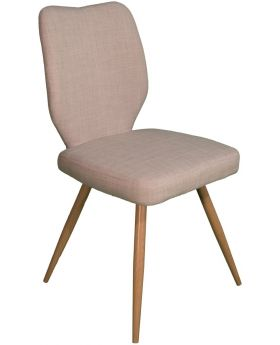 Pair of Classic Enka Dining Chairs - Ivory
