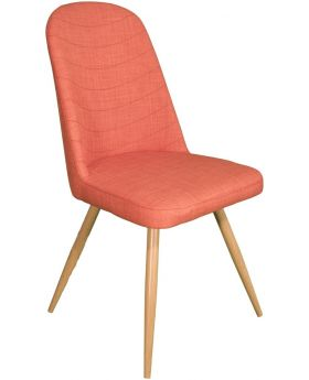 Pair of Classic Reya Dining Chair - Orange