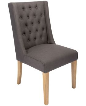 Classic Luxor Oak Dining Chair in Slate