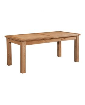 Devonshire Wessex Oak Dining Table With 2 Extensions 180-250 X  90