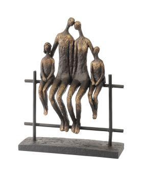 Libra Duxford Bench Family of 4 Sculpture