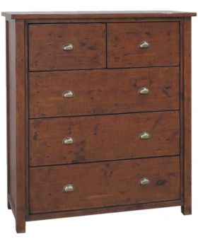 Classic Furniture Driftwood Reclaimed Pine 5 Drawer Tallboy