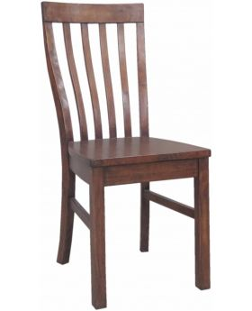 Classic Furniture Driftwood Reclaimed Pine Dining Chair with Wooden Seat