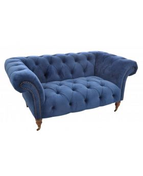 Ancient Mariner Ellie Navy Velvet Chesterfield 1.5 Seater Sofa