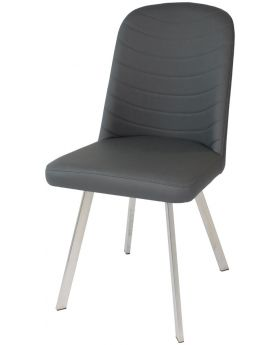 Pair of Classic Flux Dining Chairs in Grey