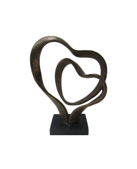 Libra Double Heart Sculpture