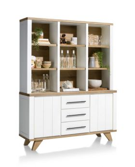 Habufa Jardin 9 Hole Cabinet in White
