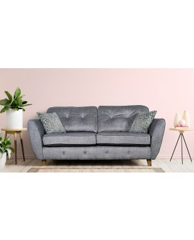 GFA Holborn Fixed 2 Seater Sofa In Silver