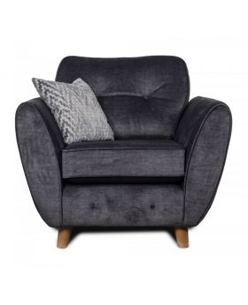 GFA Holborn Fixed Chair In Graphite