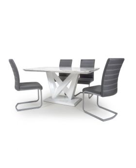 Saturn Medium Dining Table & 4 Chairs in Grey