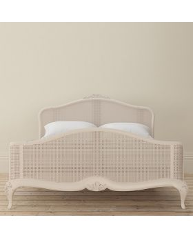 Willis and Gambier Ivory 180cm Kingsize Rattan Bed