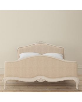 Willis and Gambier Ivory 150cm Upholstered Bedframe