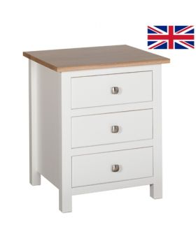 Devonshire Kenwith Large 3 Drawer Bedside