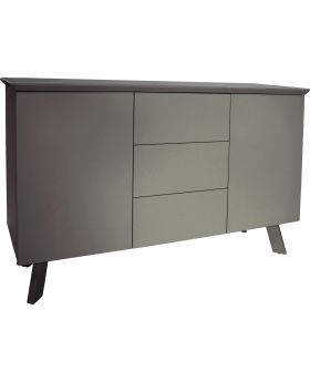 Classic Flux Contemporary Large Grey High Gloss Sideboard