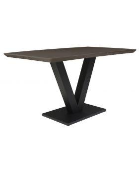 Classic Larson Rectangular Dining Table - High Gloss Grey