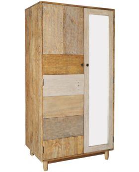 Loft Reclaimed Pine Double Wardrobe with Legs