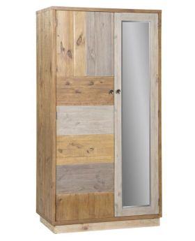 Loft Reclaimed Pine Double Wardrobe with Plinth