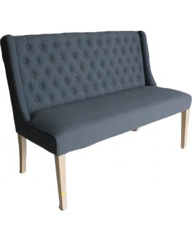 Luxor Upholstered Bench in Slate Grey