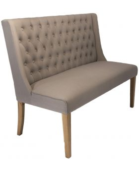 Luxor Upholstered Bench in Almond Fabric