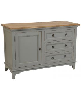 Classic Furniture Normandy 3 Drawer 1 Door Sideboard