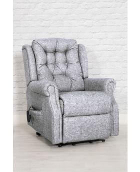 Milton Dual Motor Lift & Tilt Chair In Zinc