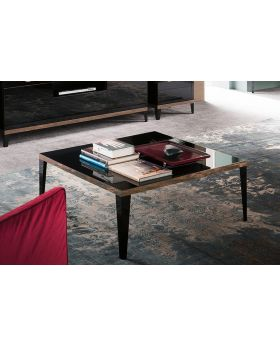 ALF Mont Noir Black High Gloss Square Coffee Table