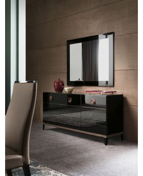 ALF Mont Noir Dining Mirror High Gloss Black