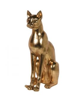 Extra Large Gold Sphinx Cat Sculpture